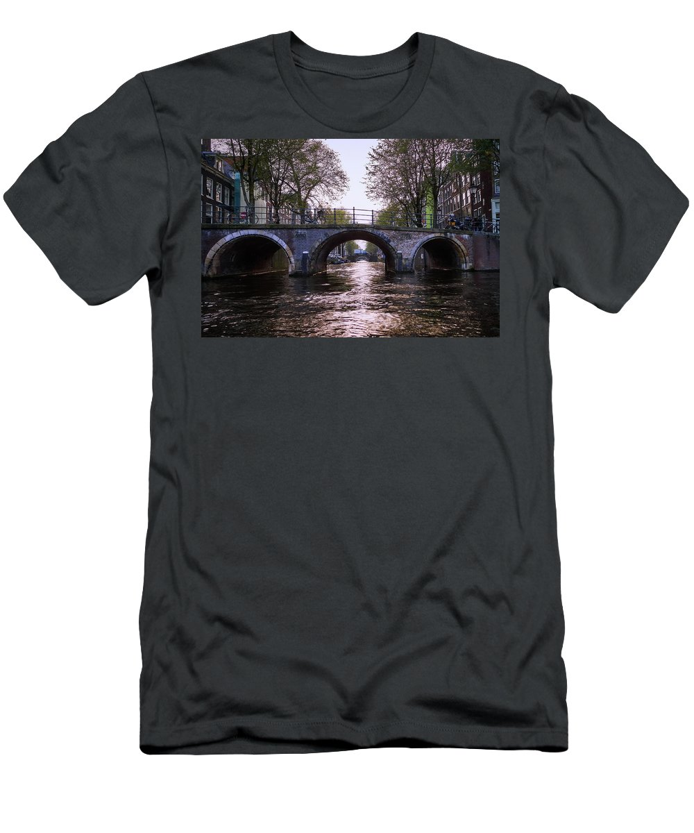 Finland Men's T-Shirt (Athletic Fit) featuring the photograph Built 1722. Amsterdam Canals by Jouko Lehto