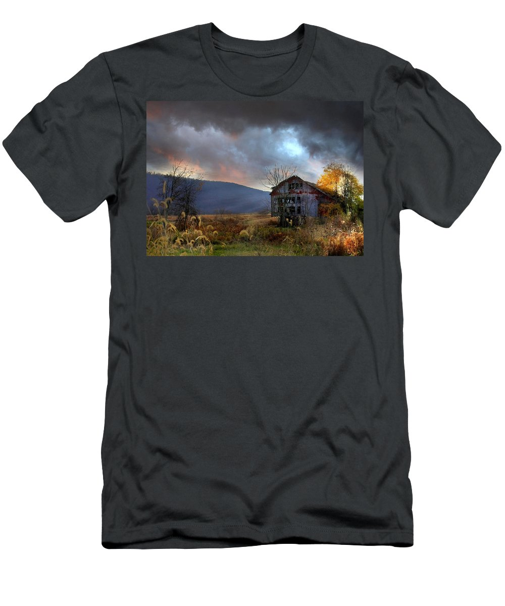 Barn Men's T-Shirt (Athletic Fit) featuring the photograph Built To Last by Lori Deiter