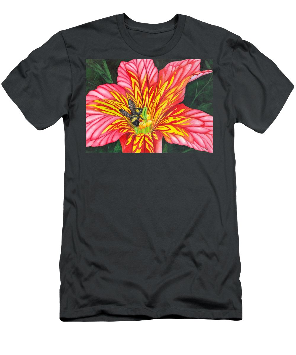 Bee Men's T-Shirt (Athletic Fit) featuring the painting Bumble Bee by Catherine G McElroy