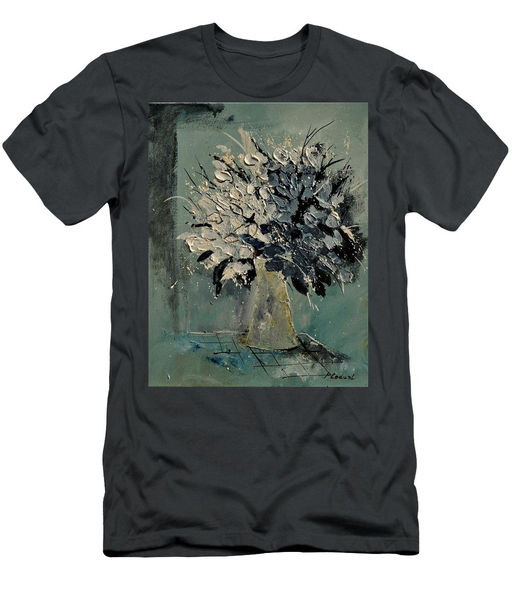 Flowers Men's T-Shirt (Athletic Fit) featuring the painting Bunch 451110 by Pol Ledent