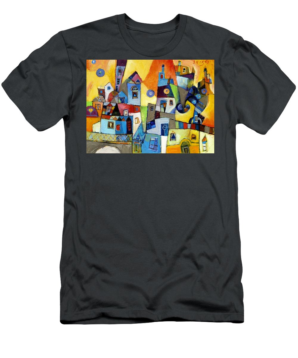 Burano Men's T-Shirt (Athletic Fit) featuring the painting Burano by Miljenko Bengez
