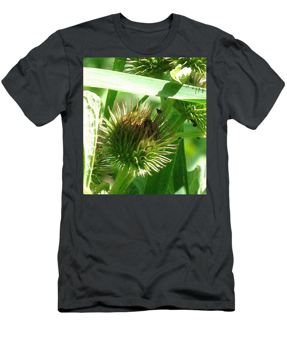 Flower Men's T-Shirt (Athletic Fit) featuring the photograph Bursting by Ian MacDonald