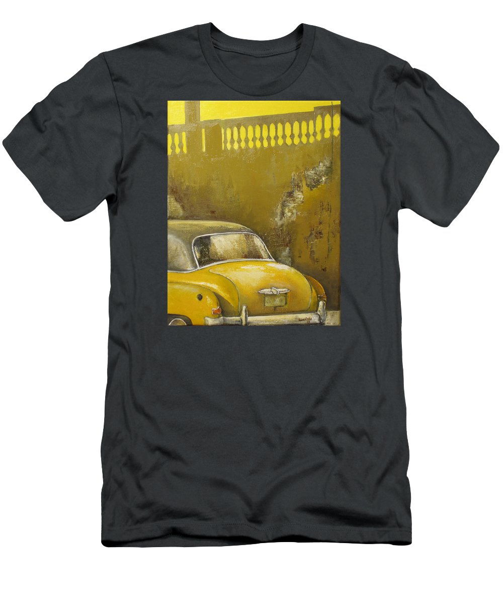 Havana T-Shirt featuring the painting Buscando La Sombra by Tomas Castano
