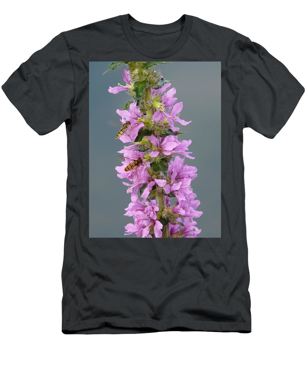 Flower Men's T-Shirt (Athletic Fit) featuring the photograph Busy Flower by Valerie Ornstein