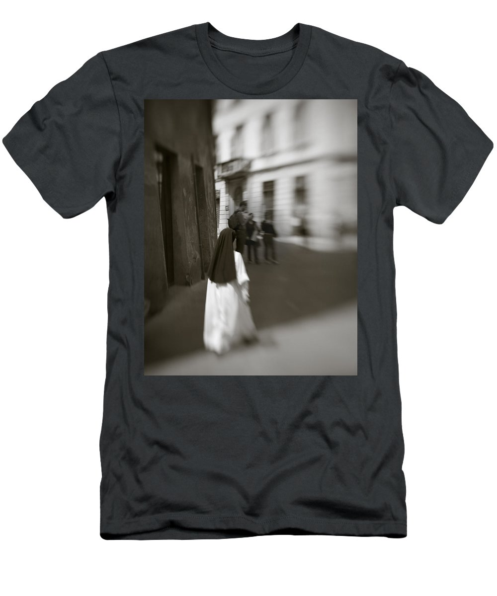 Nun Men's T-Shirt (Athletic Fit) featuring the photograph Busy Nun by Marilyn Hunt