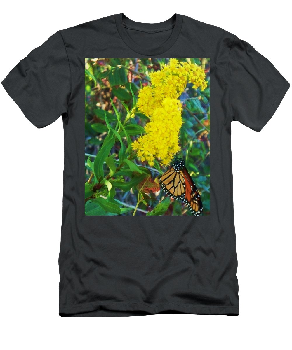 Butterfly Men's T-Shirt (Athletic Fit) featuring the painting Butterfly At Cape May Nj by Eric Schiabor