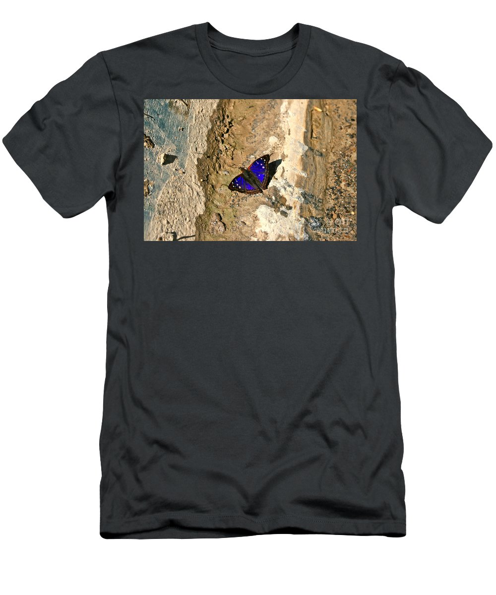 Butterfly Men's T-Shirt (Athletic Fit) featuring the photograph Butterfly by Natalie Soroka