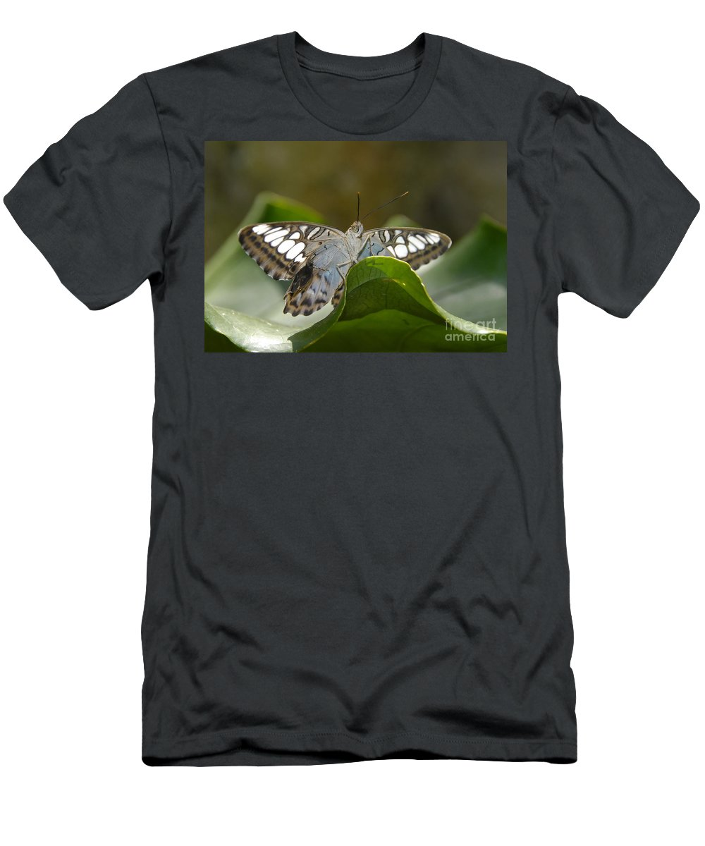 Pretty Men's T-Shirt (Athletic Fit) featuring the photograph Butterfly Watching by David Lee Thompson