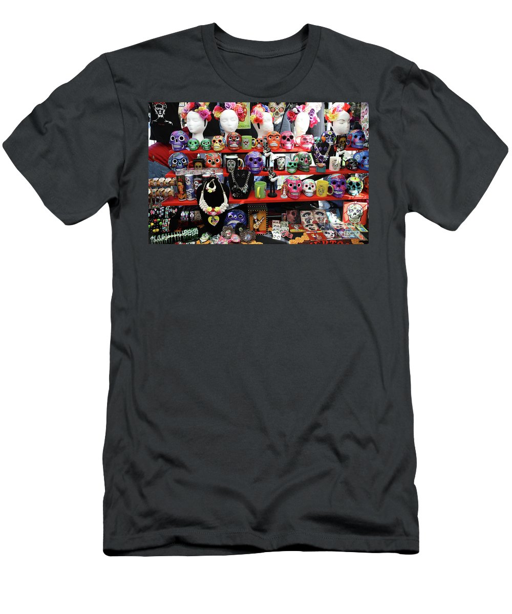 Dia De Los Muertos Men's T-Shirt (Athletic Fit) featuring the photograph Buy From Me Day Of The Dead by Chuck Kuhn