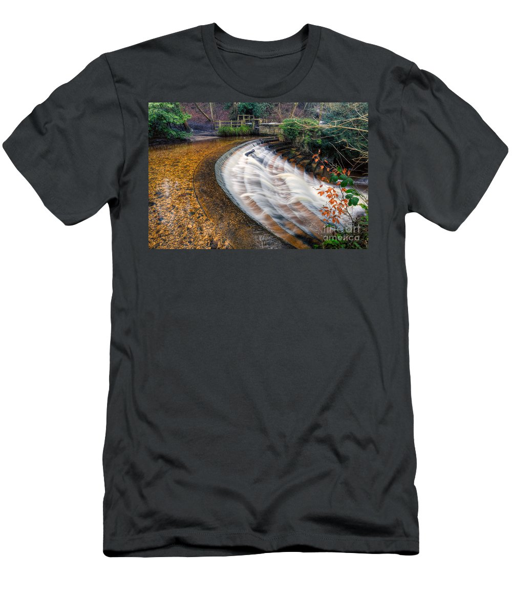 Architecture Men's T-Shirt (Athletic Fit) featuring the photograph Caeau Weir by Adrian Evans
