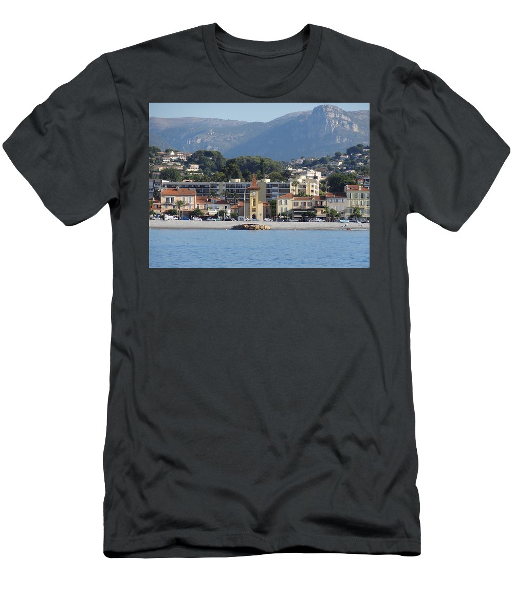 Men's T-Shirt (Athletic Fit) featuring the photograph Cagnes Sur Mer by Andres Chauffour