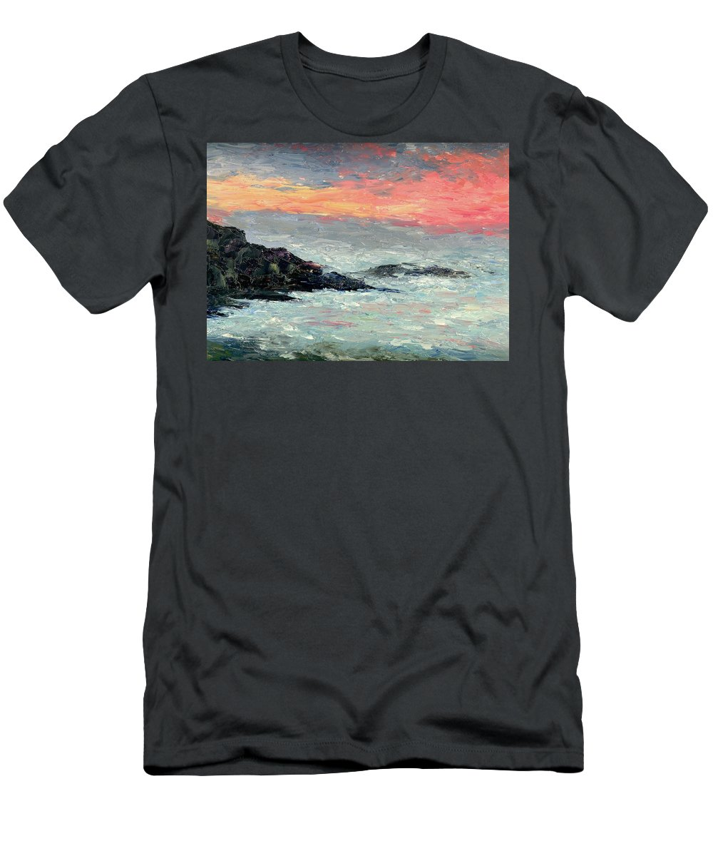 Seascape Men's T-Shirt (Athletic Fit) featuring the painting California Coast by Gail Kirtz