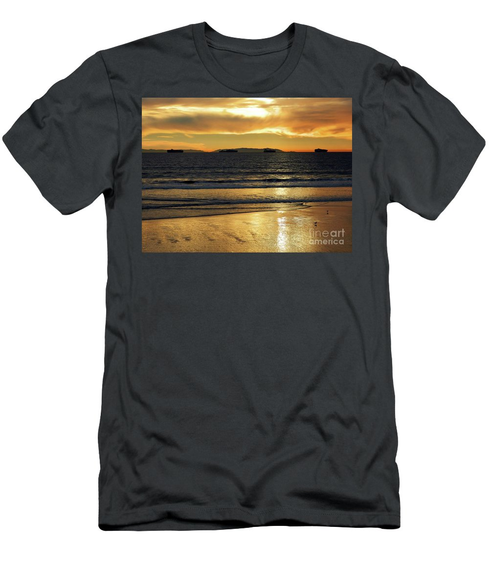 Beach Men's T-Shirt (Athletic Fit) featuring the photograph California Gold by Everette McMahan jr