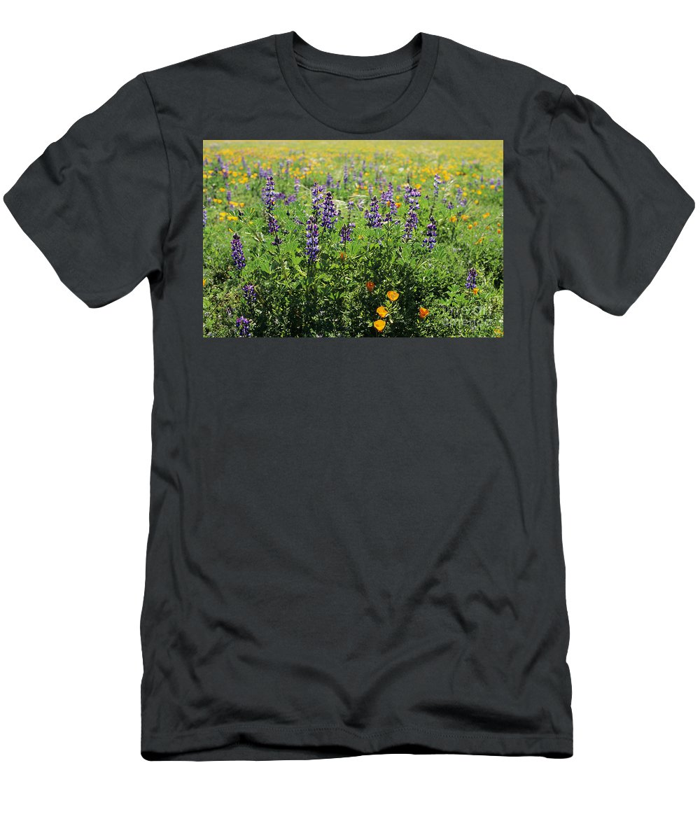 Beautiful Men's T-Shirt (Athletic Fit) featuring the photograph California Meadow by Larry Dale Gordon - Printscapes