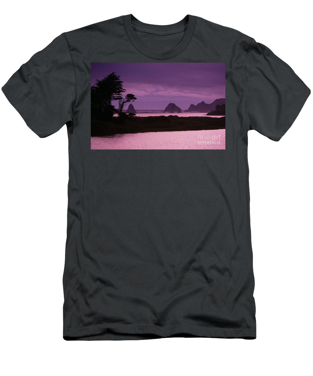Beach Men's T-Shirt (Athletic Fit) featuring the photograph California, Sonoma Coast by Larry Dale Gordon - Printscapes