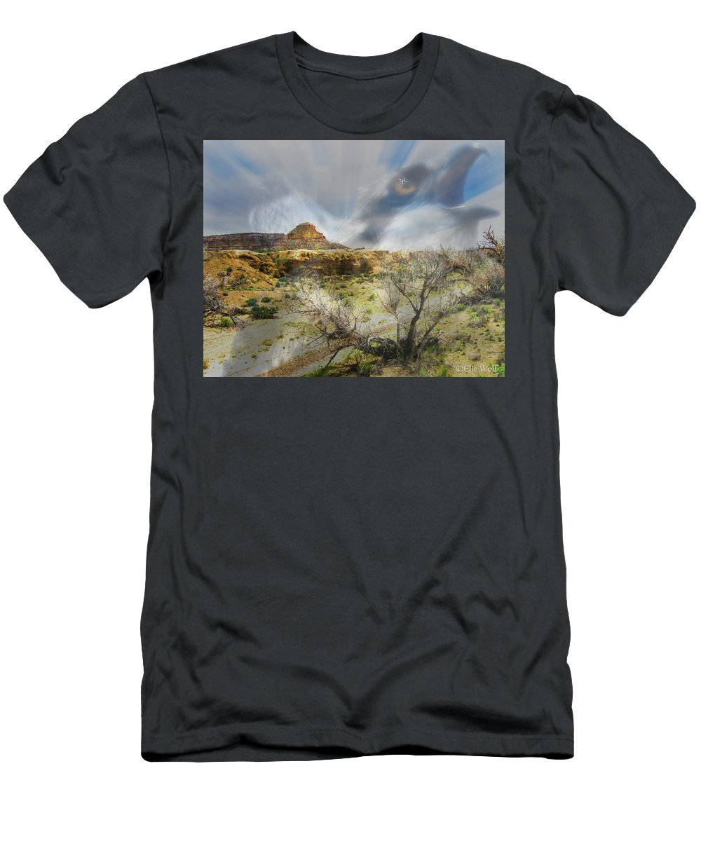 Wolf Men's T-Shirt (Athletic Fit) featuring the photograph Call Of The Wild by Elie Wolf