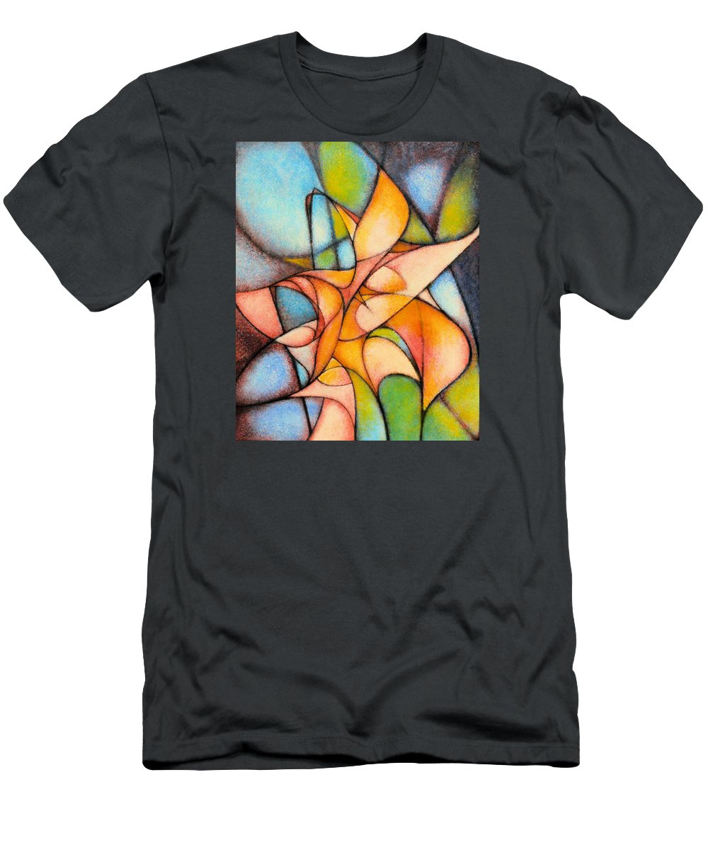 Contemporary Men's T-Shirt (Athletic Fit) featuring the painting Calla Lillies by Kevin Lawrence Leveque