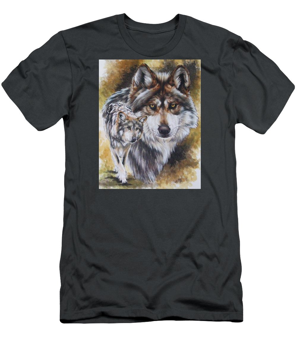 Wildlife Men's T-Shirt (Athletic Fit) featuring the mixed media Callidity by Barbara Keith