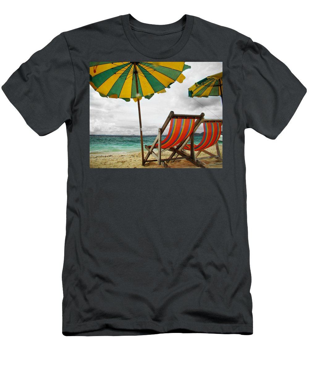 Beach Men's T-Shirt (Athletic Fit) featuring the photograph Calm Before The Storm by Cory Best