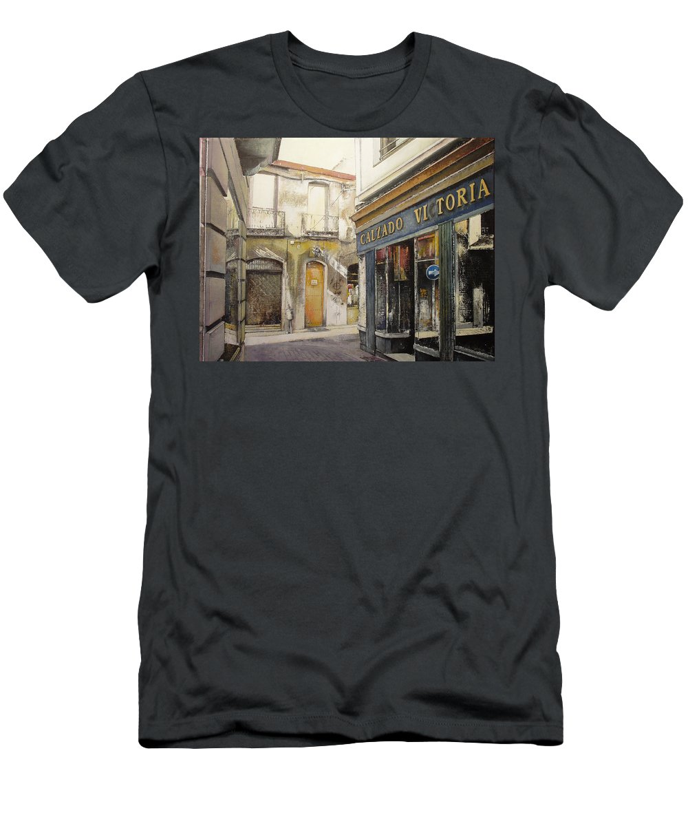 Calzados T-Shirt featuring the painting Calzados Victoria-leon by Tomas Castano