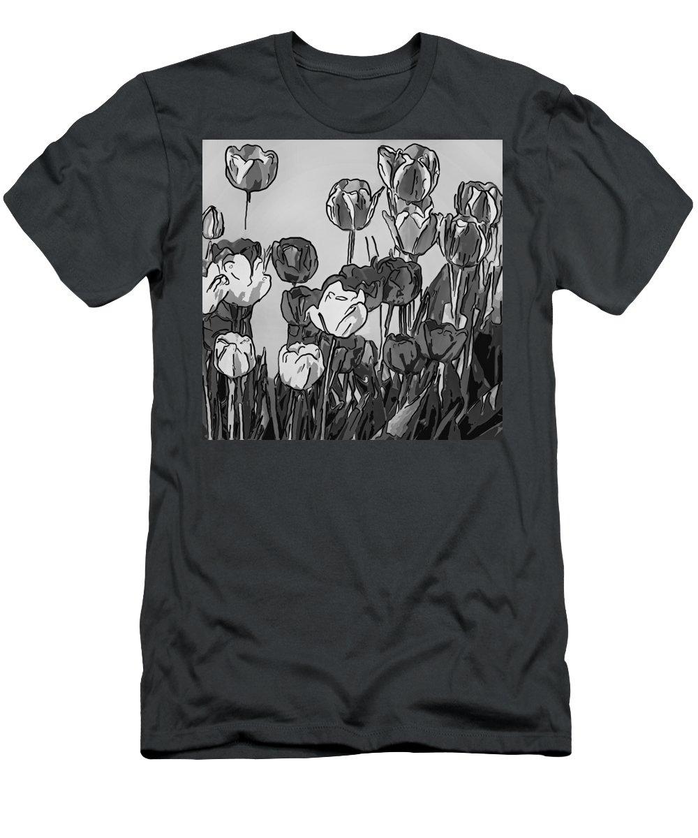 Steve Harrington Men's T-Shirt (Athletic Fit) featuring the photograph Camille's Tulips - Version 4 by Steve Harrington