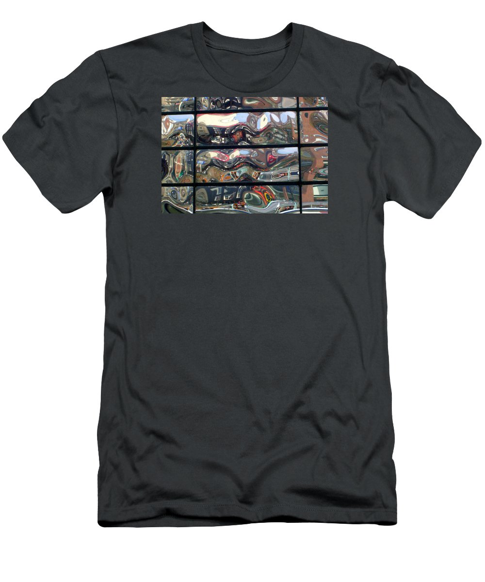 Amsterdam Men's T-Shirt (Athletic Fit) featuring the photograph Canal Wave Amsterdam. by Rodger Insh