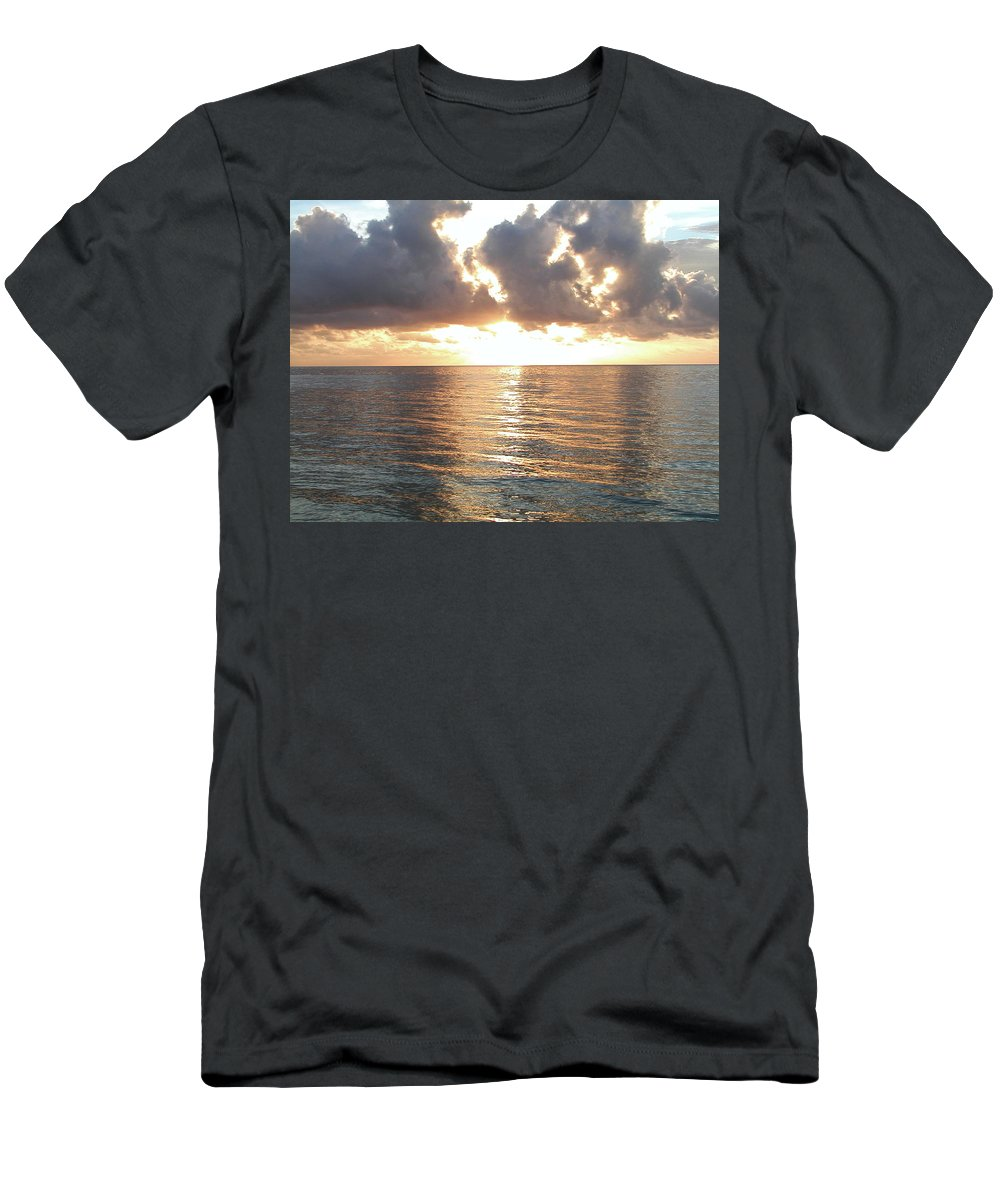 Cancun Men's T-Shirt (Athletic Fit) featuring the photograph Cancun Sunrise by Bill Cannon