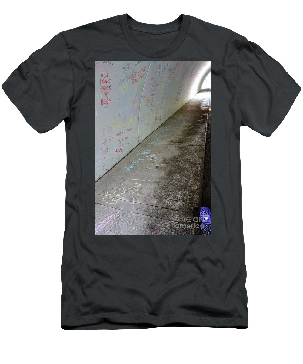 Prince Memorial Men's T-Shirt (Athletic Fit) featuring the photograph Candles For Prince by Jacqueline Athmann