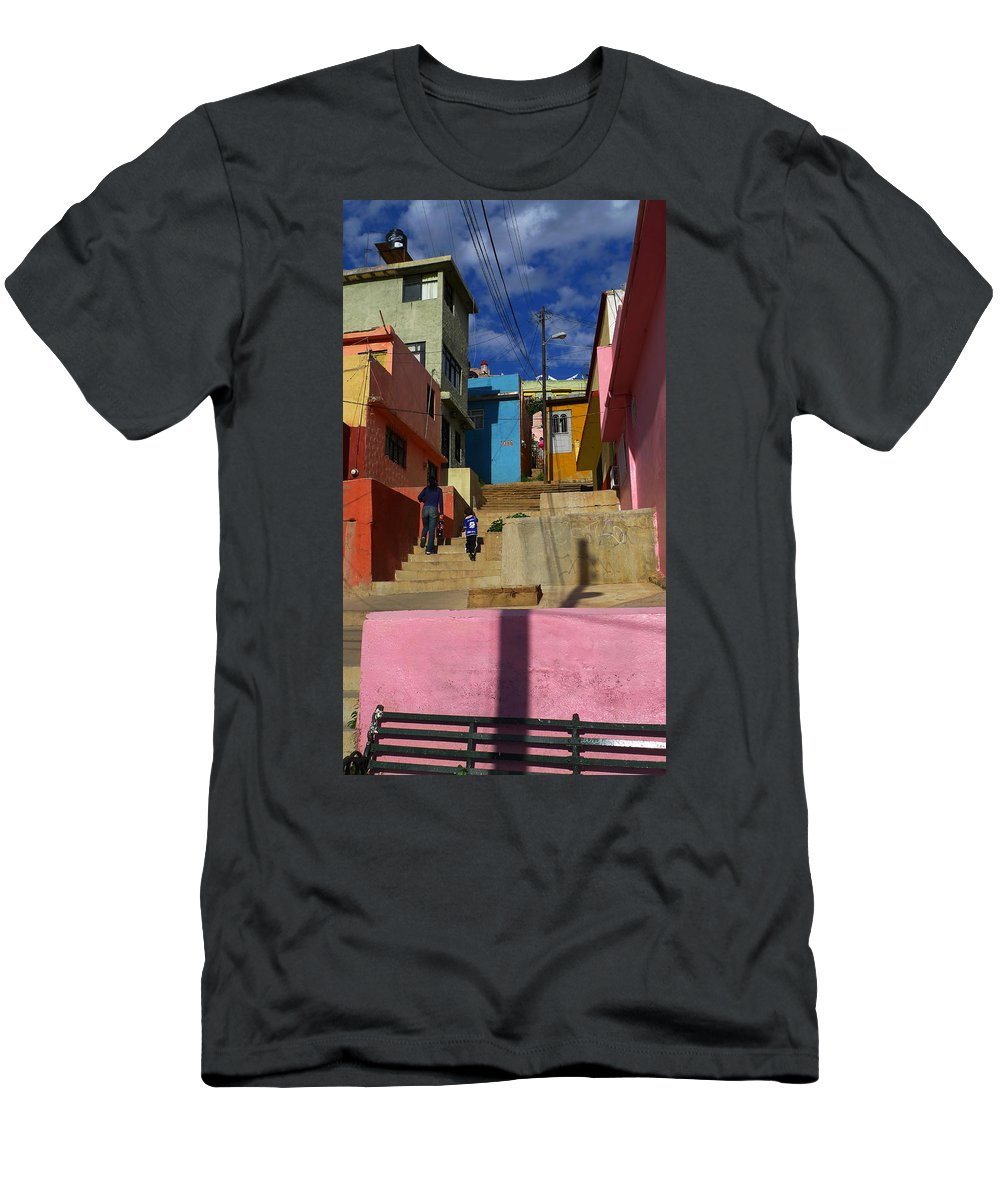 Skip Hunt Men's T-Shirt (Athletic Fit) featuring the photograph Candyland by Skip Hunt