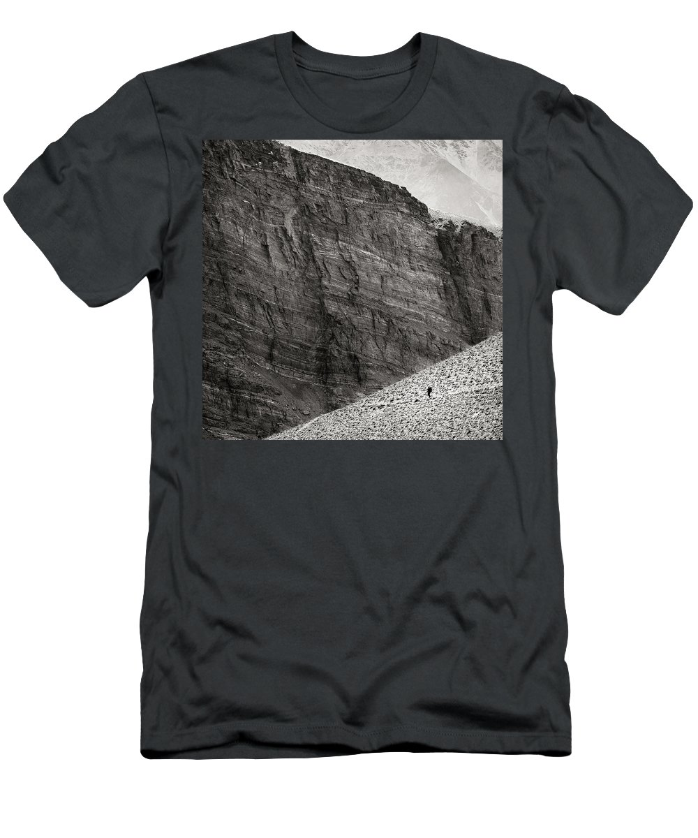 Alone Men's T-Shirt (Athletic Fit) featuring the photograph Canyon Nishgar by Konstantin Dikovsky