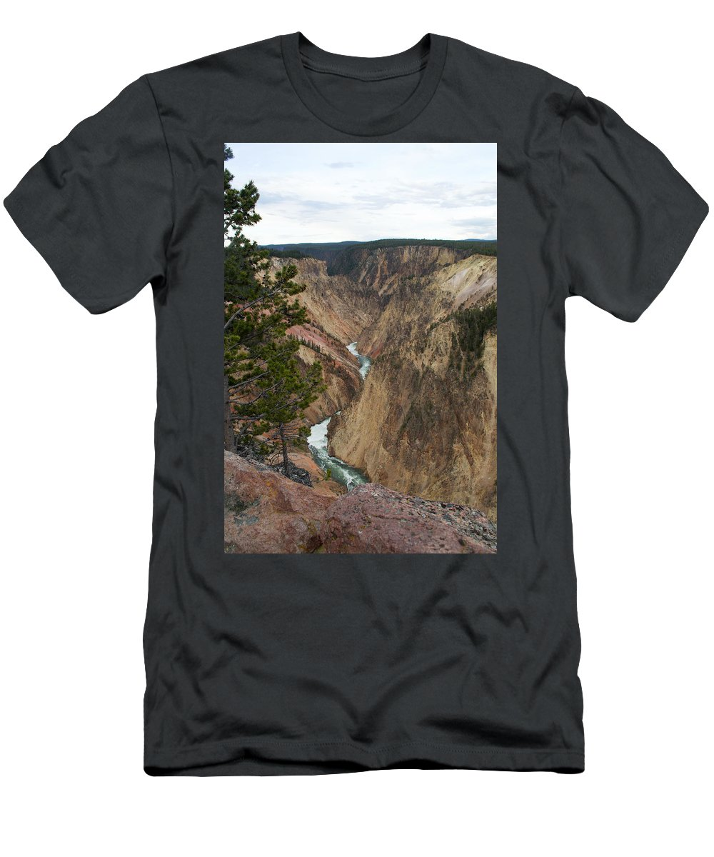 Grand Canyon Men's T-Shirt (Athletic Fit) featuring the photograph Canyon River by Linda Kerkau