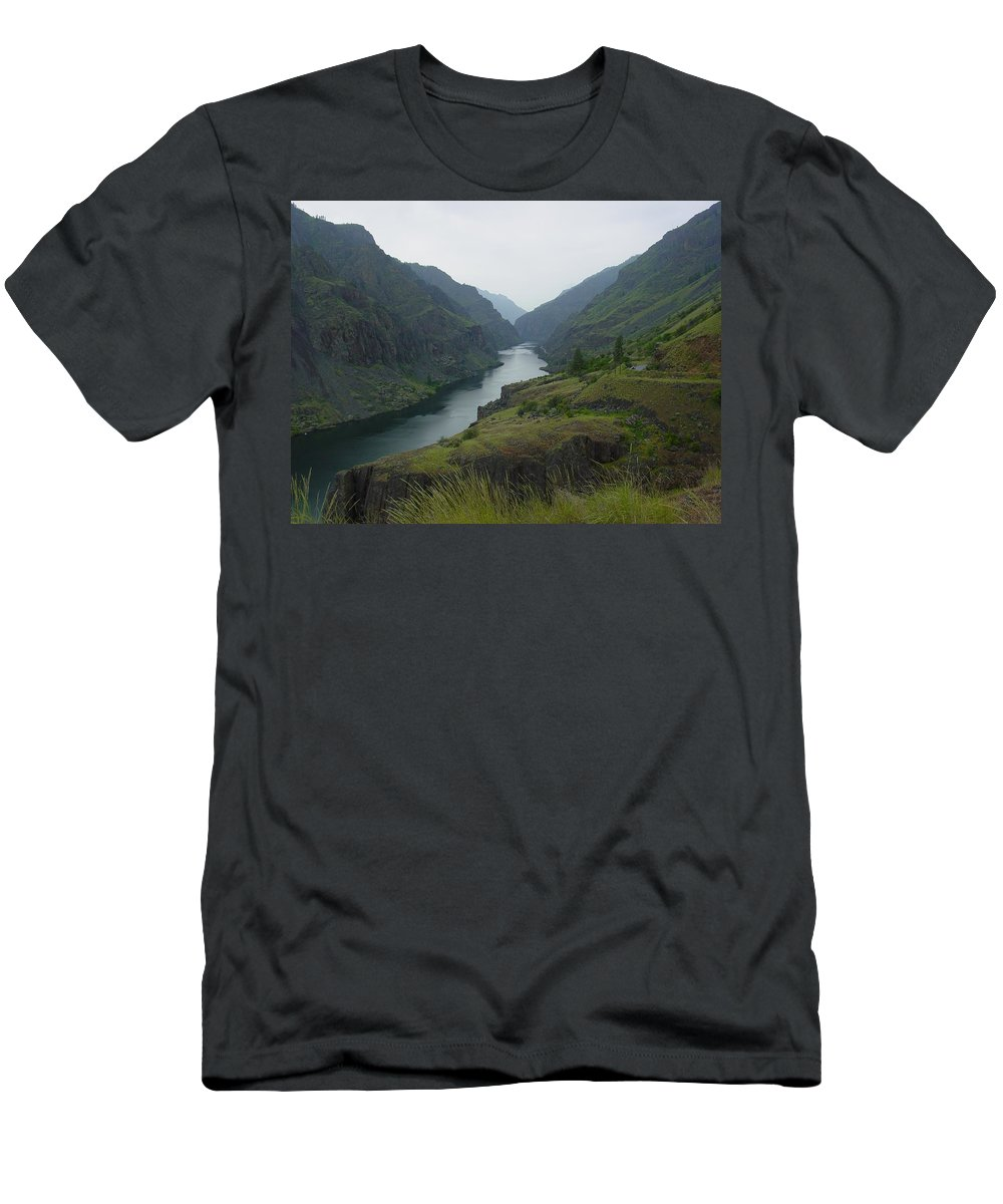 Canyon Men's T-Shirt (Athletic Fit) featuring the photograph Canyon by Sara Stevenson
