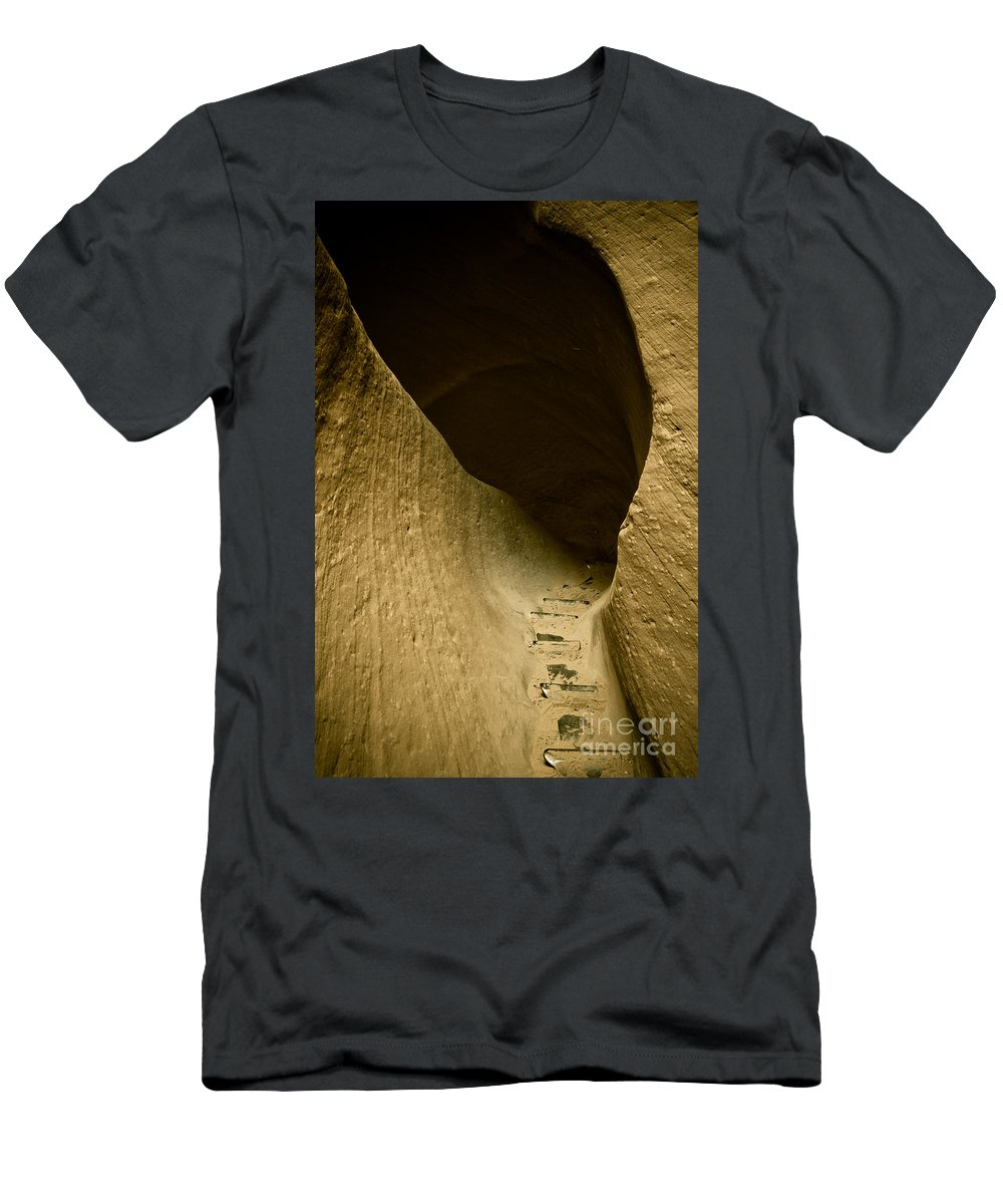 Photograph Men's T-Shirt (Athletic Fit) featuring the photograph Canyon Steps by Scott Sawyer