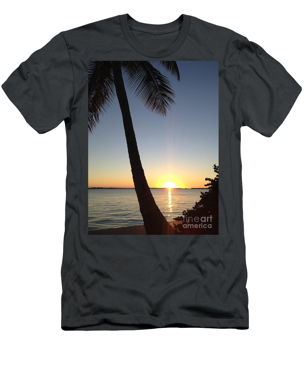 Cape Coral Men's T-Shirt (Athletic Fit) featuring the photograph Cape Coral Winter Sunset by Clay Cofer