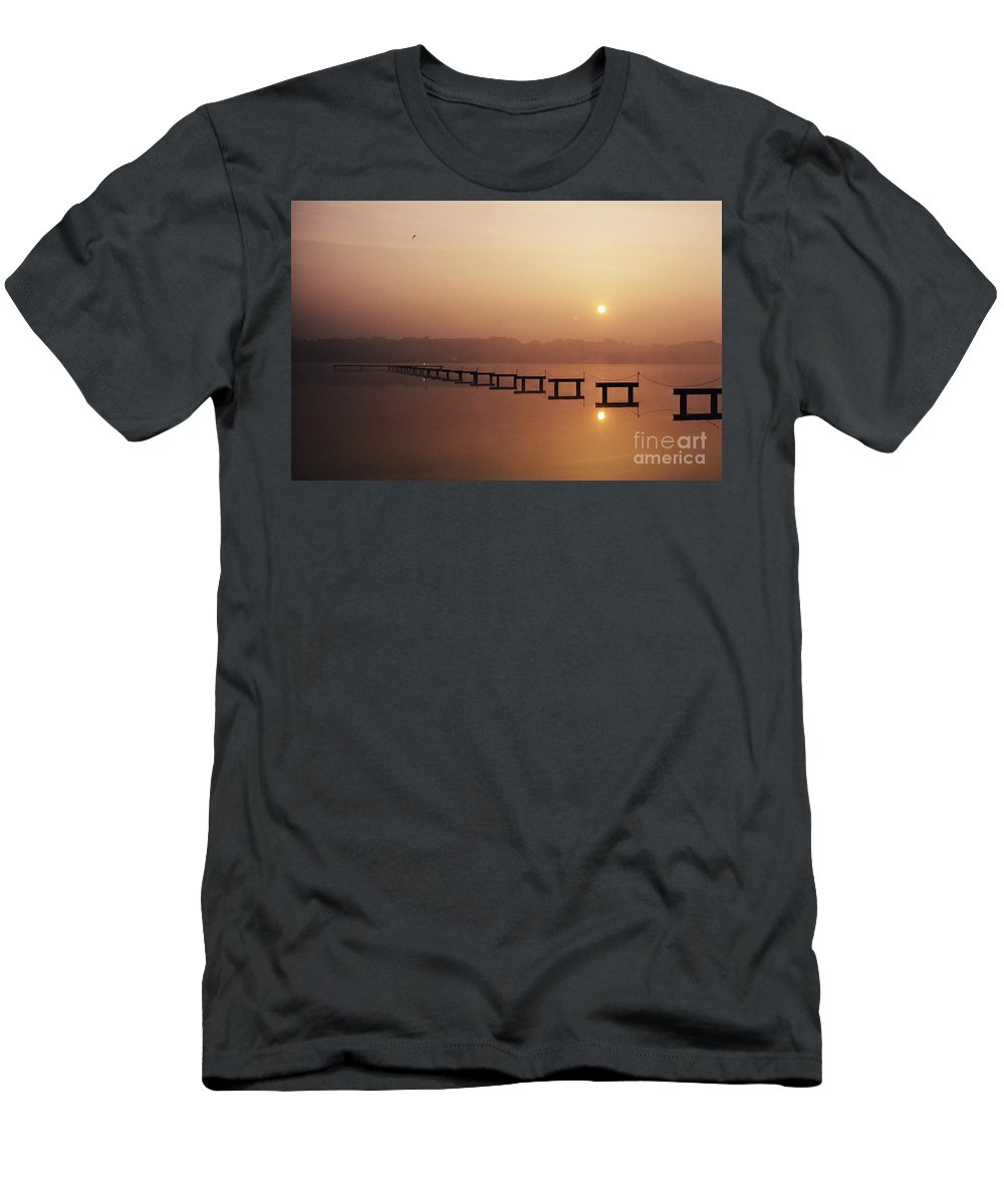 Beautiful Men's T-Shirt (Athletic Fit) featuring the photograph Cape May by Larry Dale Gordon - Printscapes