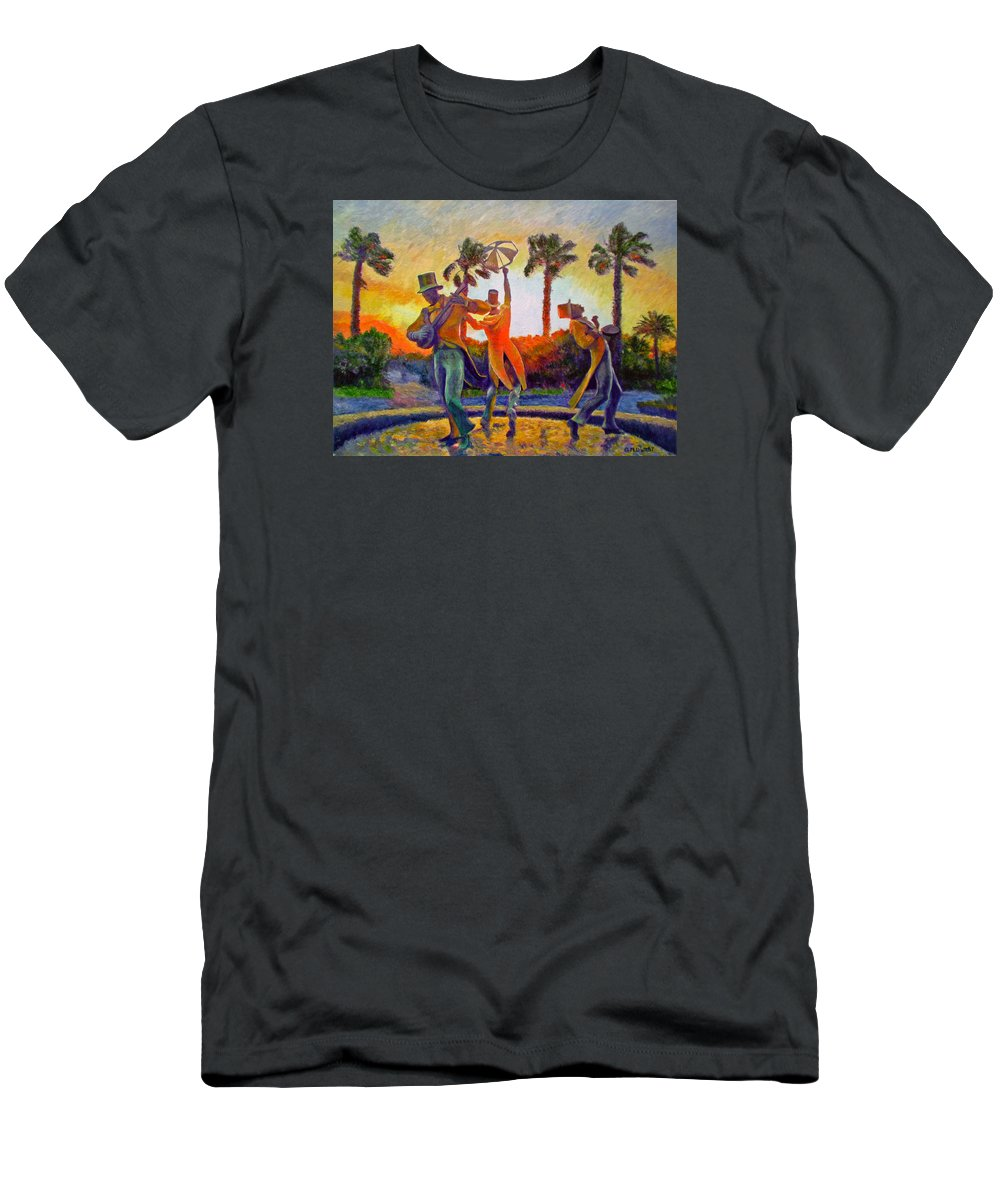 Sunset Men's T-Shirt (Athletic Fit) featuring the painting Cape Minstrels by Michael Durst