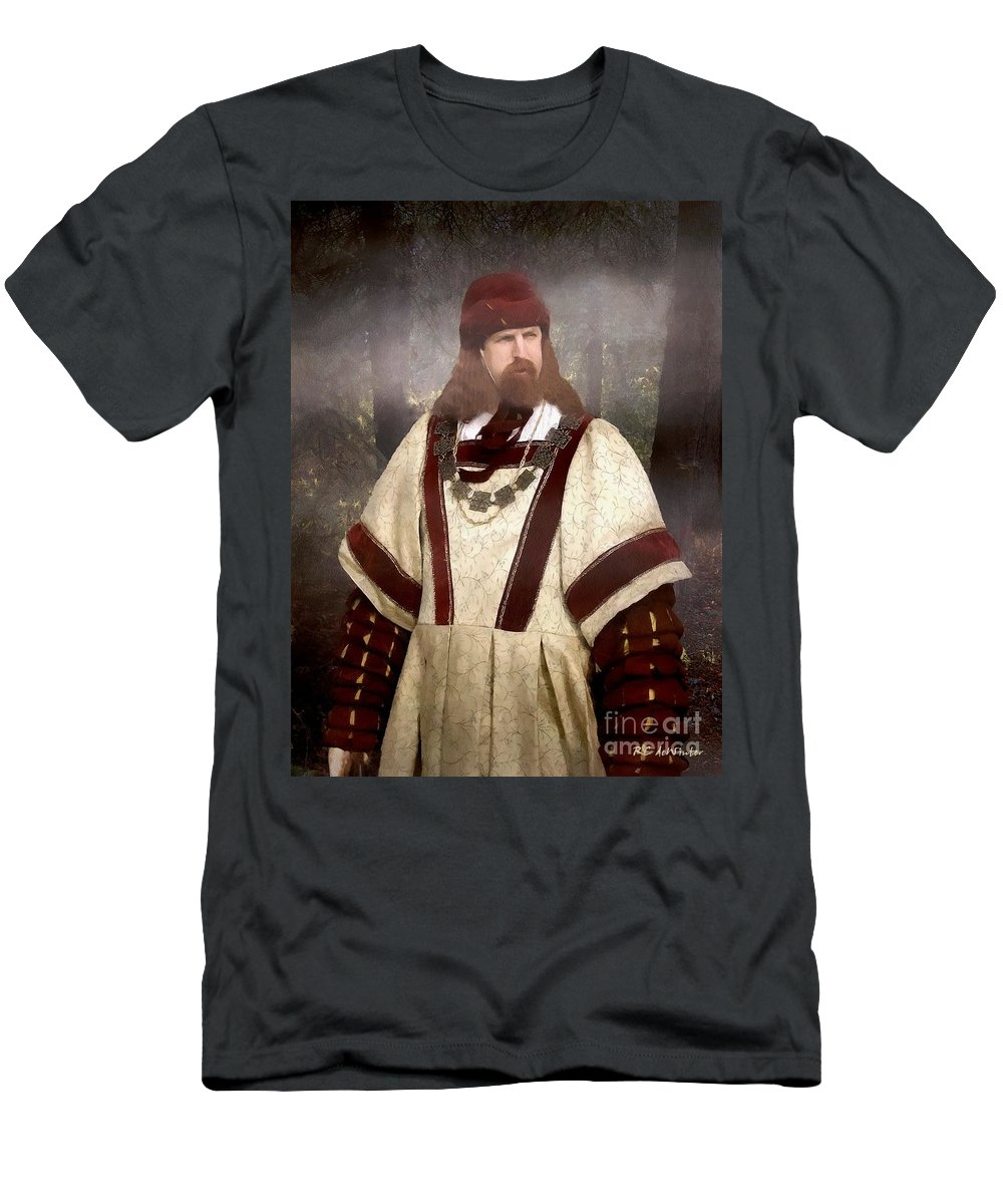 Autumn Men's T-Shirt (Athletic Fit) featuring the painting Captain Of The Guild Of St. Maurice by RC DeWinter