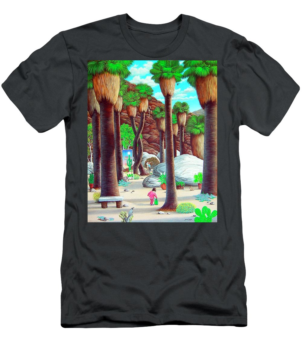 Canyon Men's T-Shirt (Athletic Fit) featuring the painting Caretaker by Snake Jagger