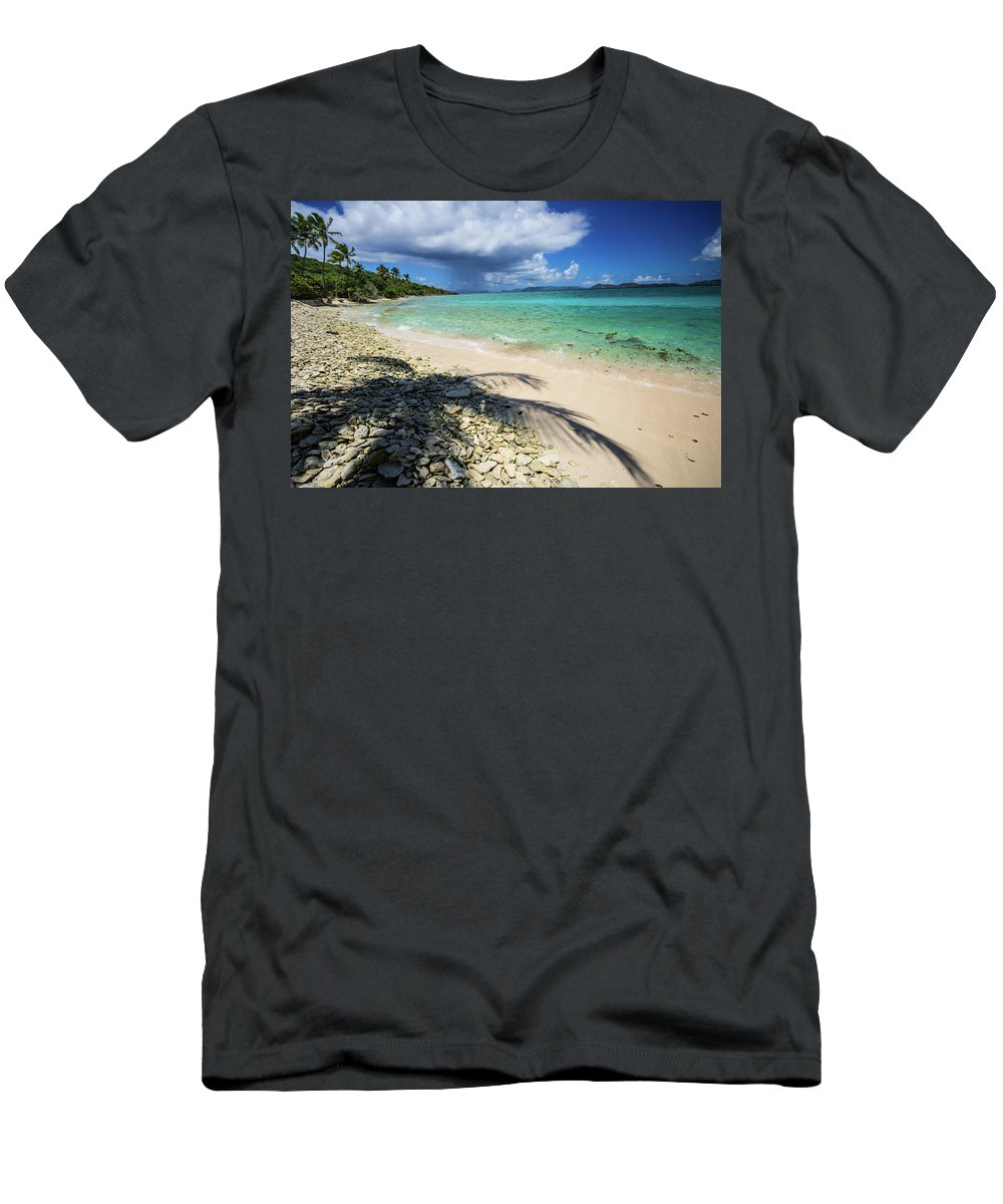 Landscape Men's T-Shirt (Athletic Fit) featuring the photograph Caribbean Afternoon by Rob Lantz