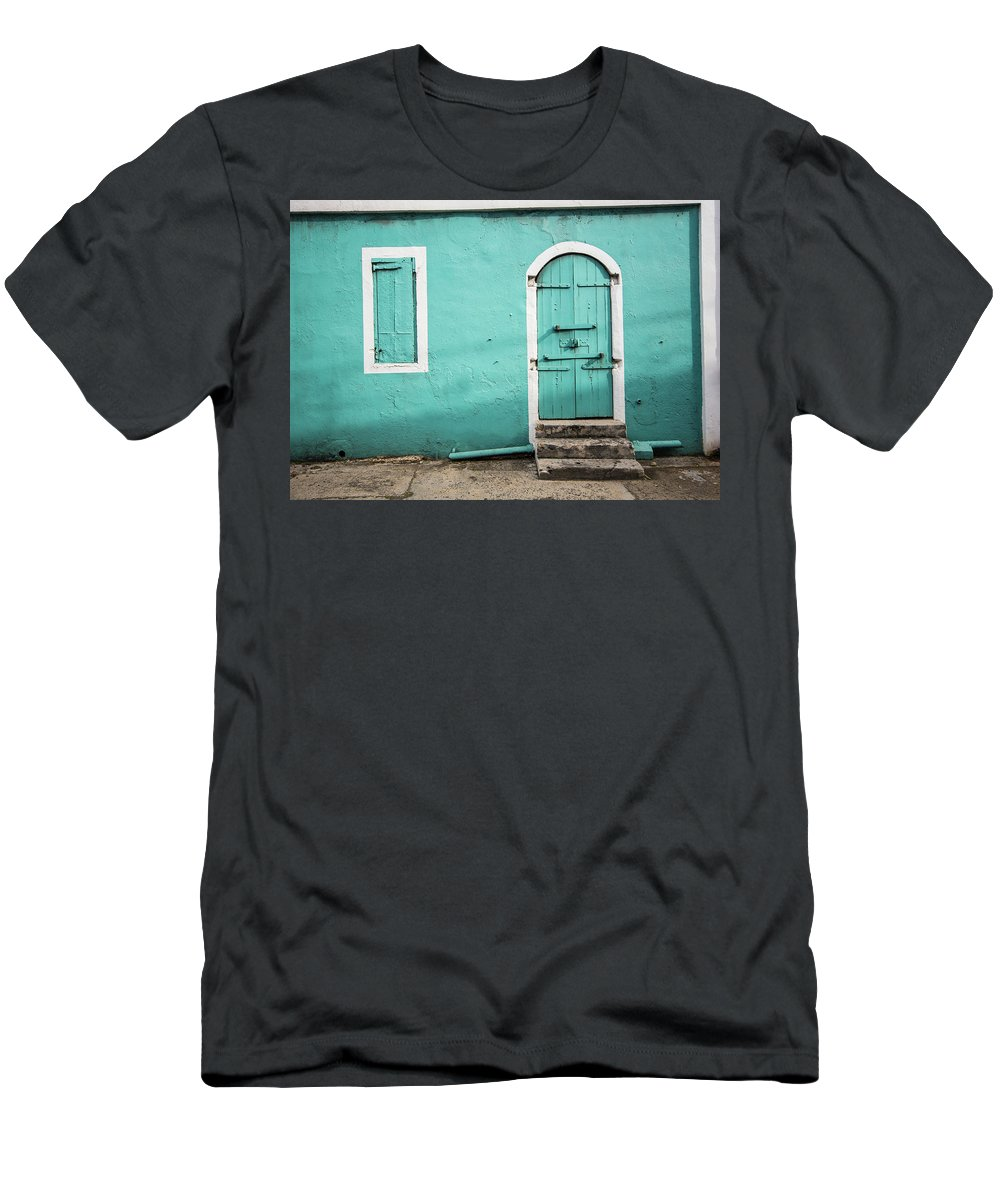 Caribbean Men's T-Shirt (Athletic Fit) featuring the photograph Caribbean Storefront by Rob Lantz