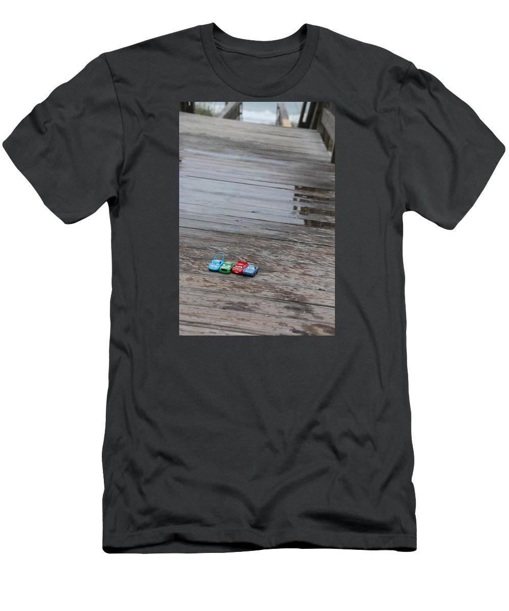 Cars Men's T-Shirt (Athletic Fit) featuring the photograph Cars by Kami Gauvey