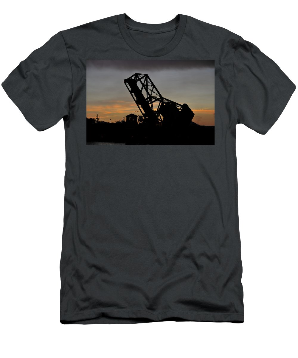 Fine Art Photography Men's T-Shirt (Athletic Fit) featuring the photograph Cass Street Bridge 1926 by David Lee Thompson