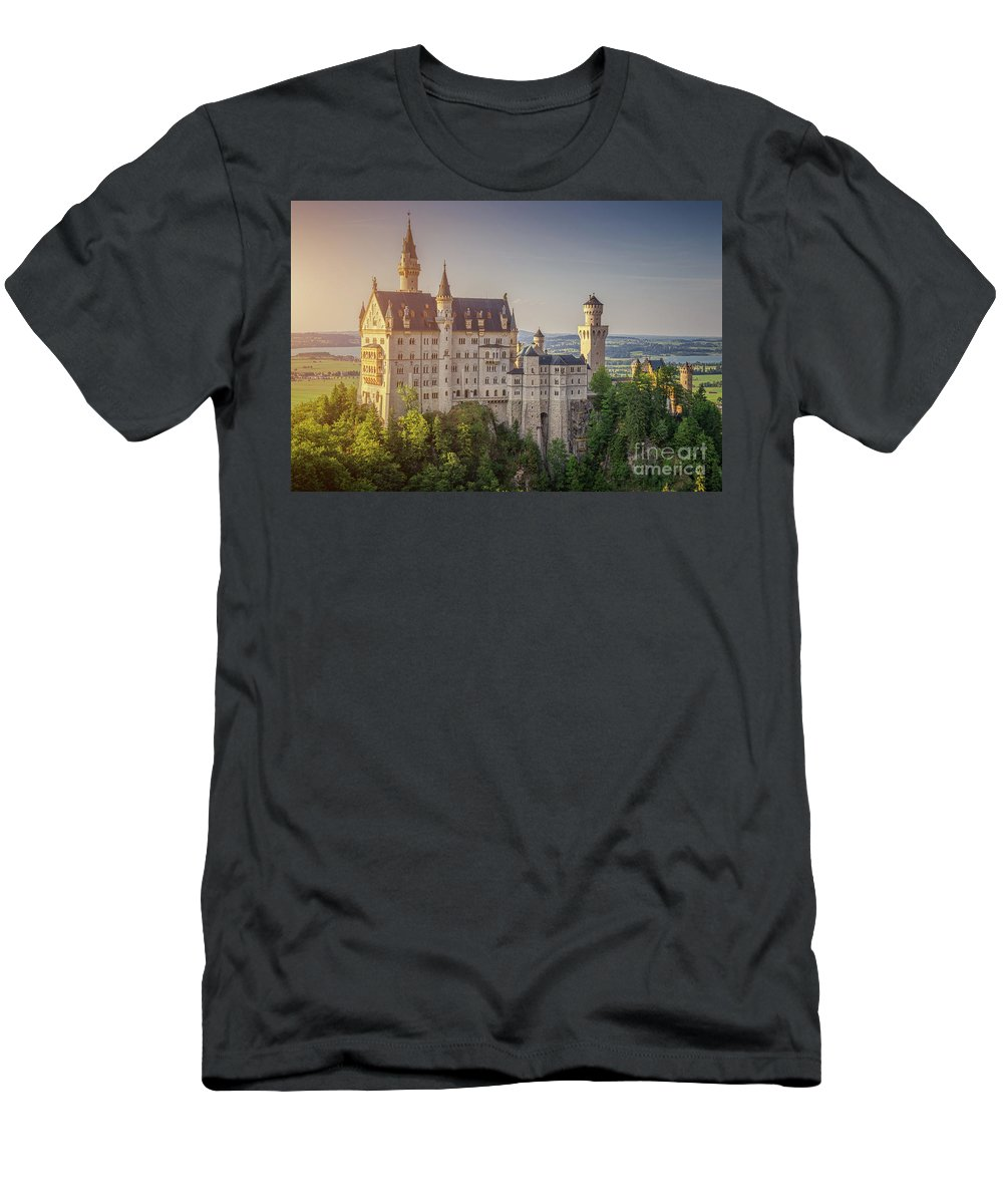 Alpine Men's T-Shirt (Athletic Fit) featuring the photograph Castle In The Sun by JR Photography