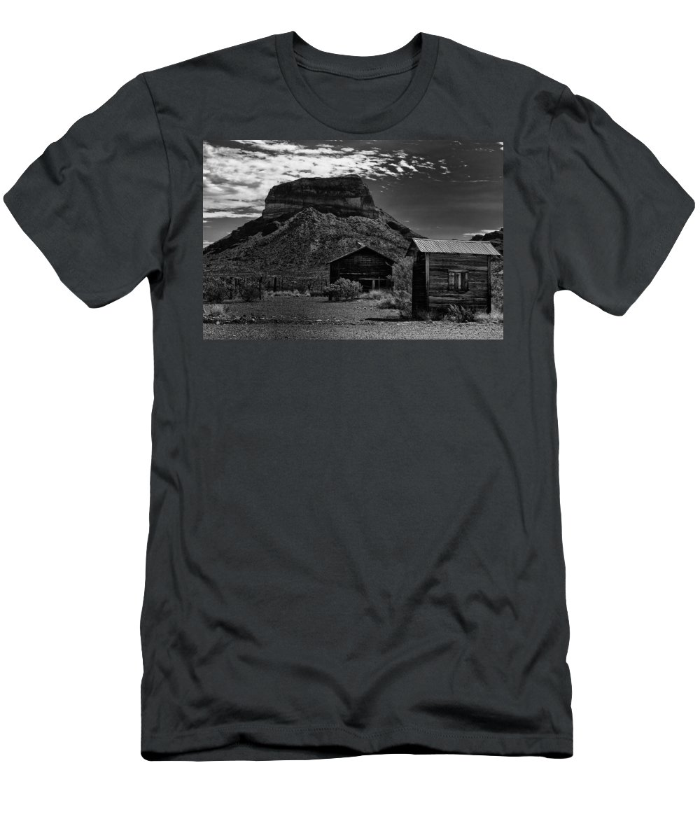 Castolon Men's T-Shirt (Athletic Fit) featuring the photograph Castolon Ghost Town by Renee Hong