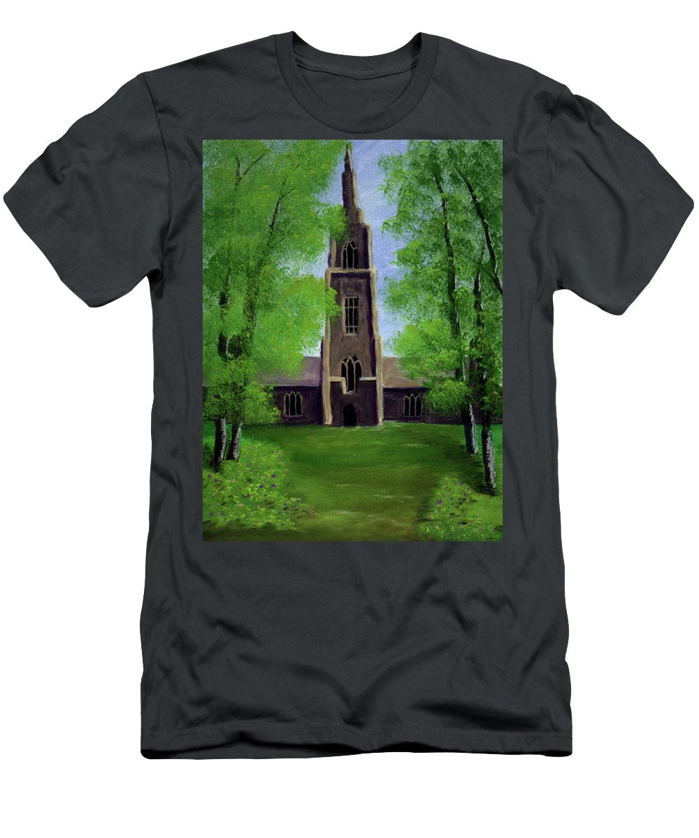 Cathedral Men's T-Shirt (Athletic Fit) featuring the painting Cathedral by Dawn Blair
