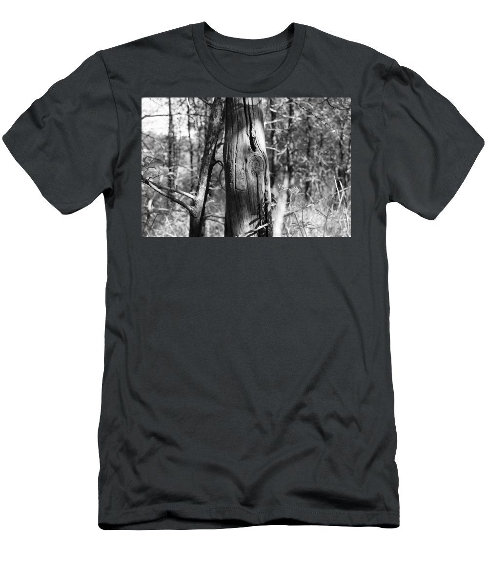 Old Fence Men's T-Shirt (Athletic Fit) featuring the photograph Cedar Fence Post by WD Stalcup