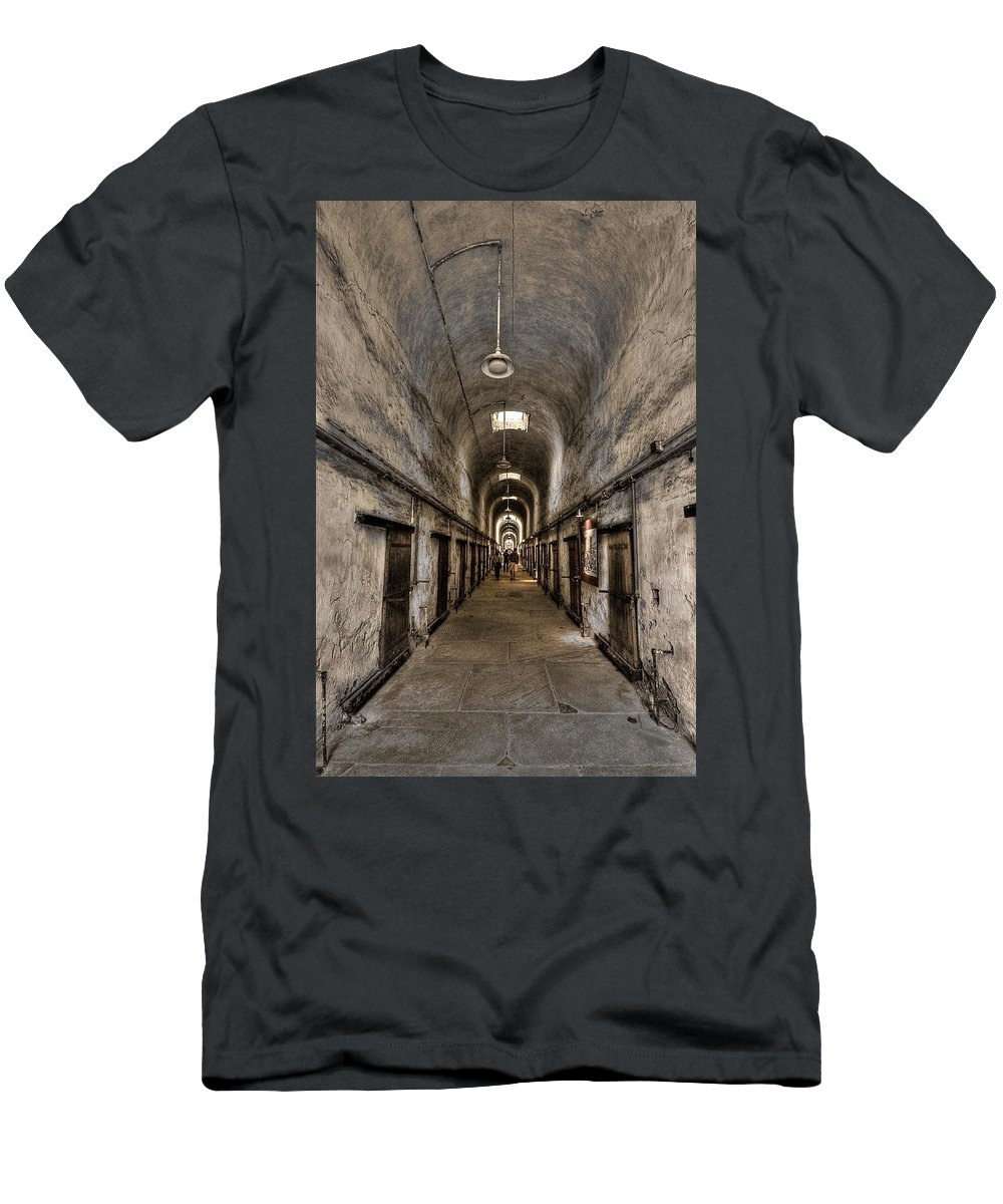 Abandoned Men's T-Shirt (Athletic Fit) featuring the photograph Cell Block by Evelina Kremsdorf