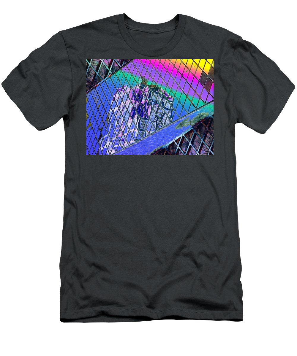 Seattle Men's T-Shirt (Athletic Fit) featuring the digital art Central Library Seattle 3 by Tim Allen