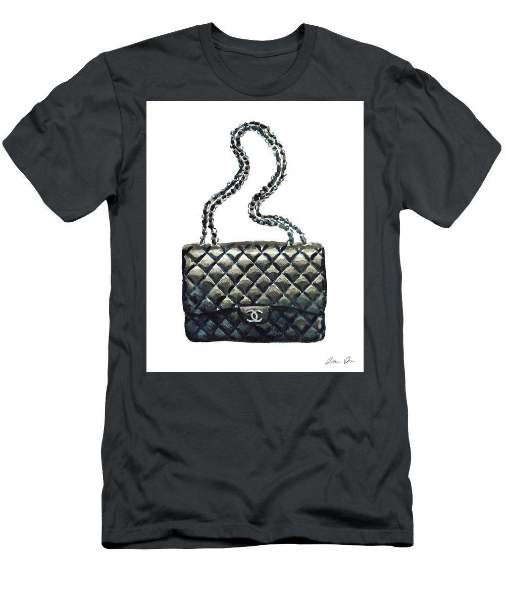 1b0d3603361479 Chanel Handbag Men's T-Shirt (Athletic Fit) featuring the painting Chanel  Quilted Handbag