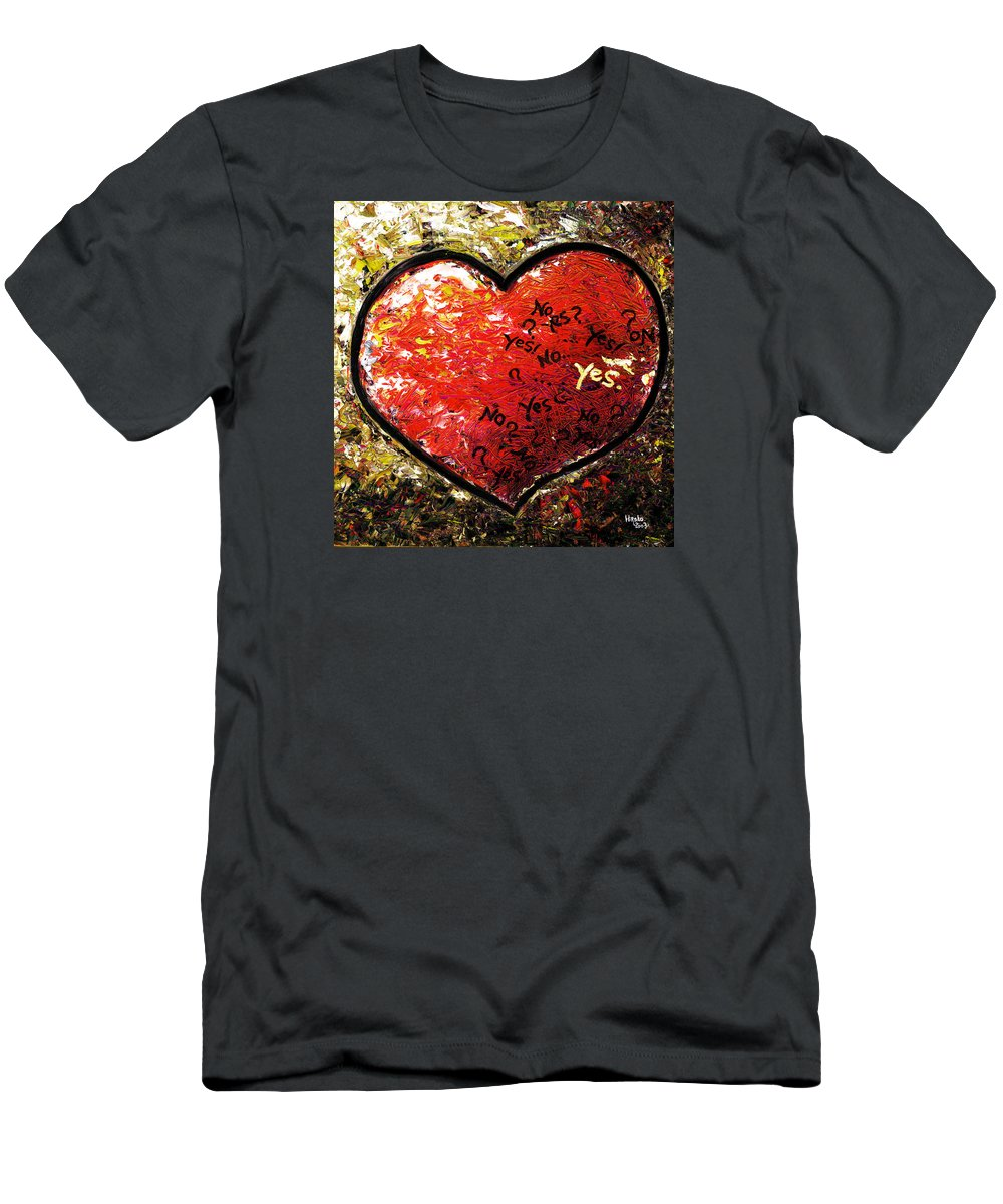 Pop Men's T-Shirt (Athletic Fit) featuring the painting Chaos In Heart by Hiroko Sakai